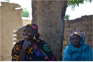 Aminata Sanogo and Sitan Sidibe, family nutrition leaders from N'golobougou village in Mali