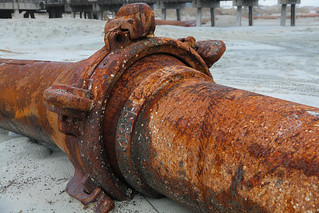 Oil Pipe from Offshore Platform