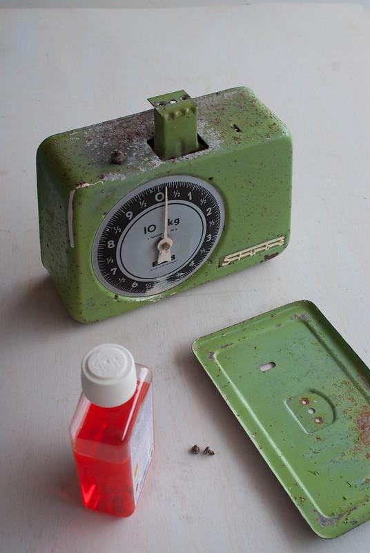 Báscula reciclada