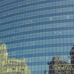We took a 70 minute boat ride to see all the wonderful architecture. Here is old reflected in new.