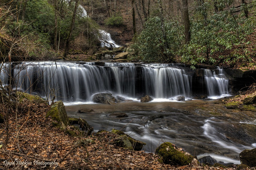 longexposure winter water leaves creek waterfall nc rocks stream northcarolina rhododendron hdr saluda polkcounty pearsonsfalls easyhike davidhopkinsphotography
