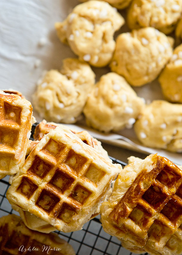 it doesn't get much better than sugary, crunchy coconut liege waffles