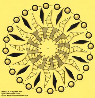 Mandala on yellow card stock