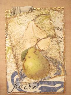 Botanical Print ATC