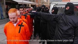 Assyrer demonstrieren in #Mainz gegen #ISIS