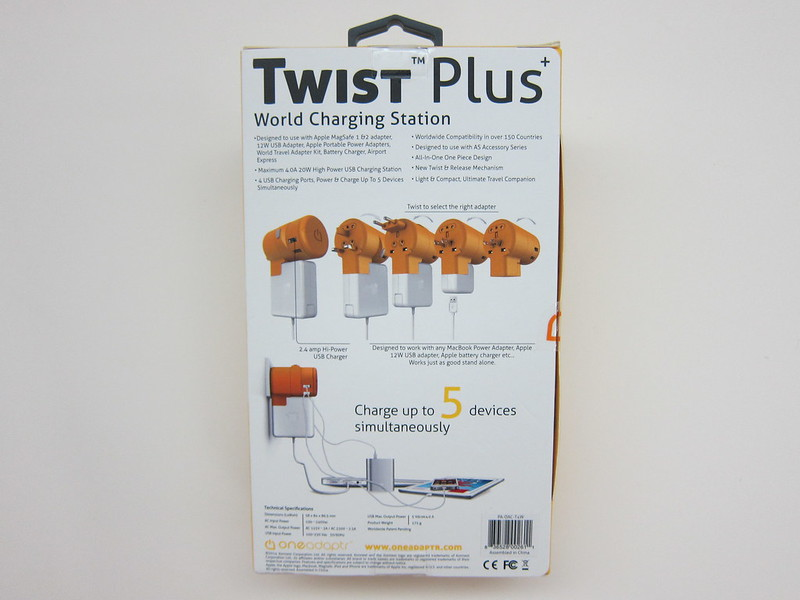 Twist Plus Word Charging Station - Box Back
