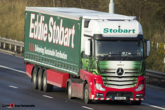 Mercedes Benz Actros 4x2 - GK12 UAL - H3328 - Jessica - Eddie Stobart - M1 J10 Luton, Bedfordshire - Steven Gray - Steven Gray_184
