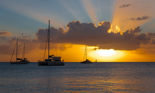 Image of Deep Bay Beach near Saint John's. sunset sea island sand antigua caribbean saintjohn antiguabarbuda antiguaandbarbuda