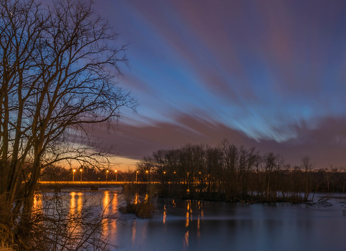 longexposure trees sunset sky reflection tree clouds reflections river geotagged evening nikon unitedstates indiana bluehour mishawaka stjosephriver nikond5300 twinbranchdam