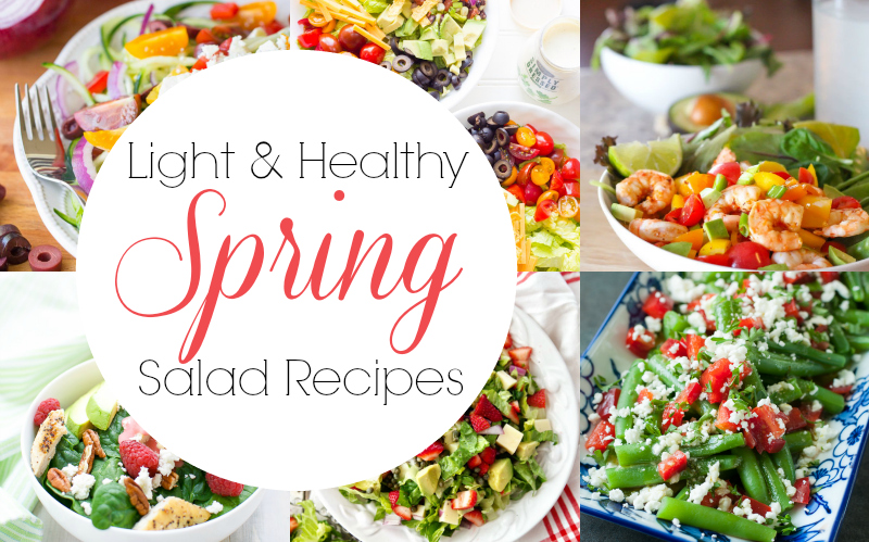 light and healthy spring summer salad recipes