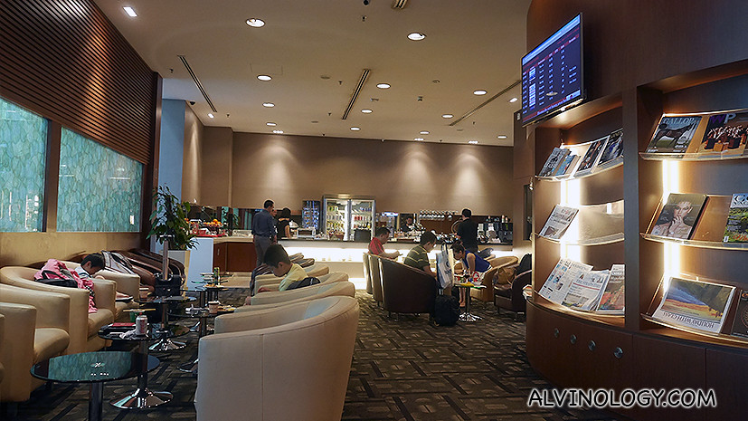 Inside the lounge