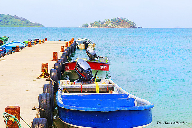 Boats for the ride at Muelle the la Guaira, Caribean side of Panama
