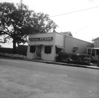Hopefully Milford old-timers still remember Vinnie's Apizza. Taken from the corner of Sperry Street and Merwin Avenue by the beach entrance near the American Legion 196. The Surf Club on the left. Milford Connecticut on a hot August day. 1972