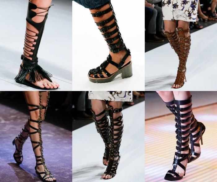 sandalias gladiadoras pasarelas