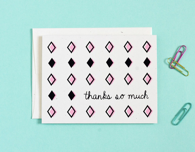 Retro Thank You Card by Vitamini