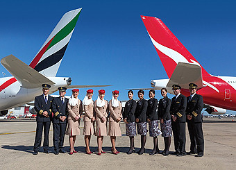 Emirates y Qantas TCP (Emirates)