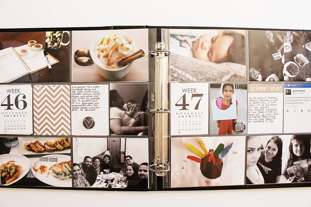 november / december 2014 layouts :: pocket memory keeping / project life