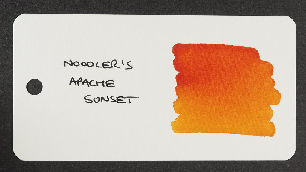 Noodler's Apache Sunset - Word Card