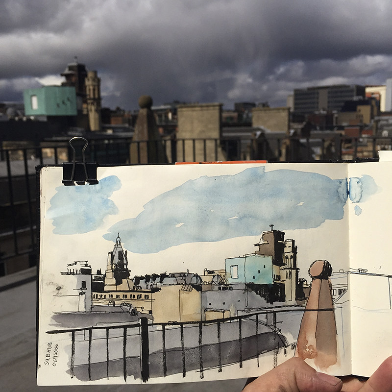 Glasgow rooftop view