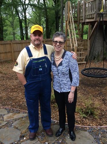 """Dr. Woteki and Andy Schneider, Atlanta's """"Chicken Whisperer"""""""