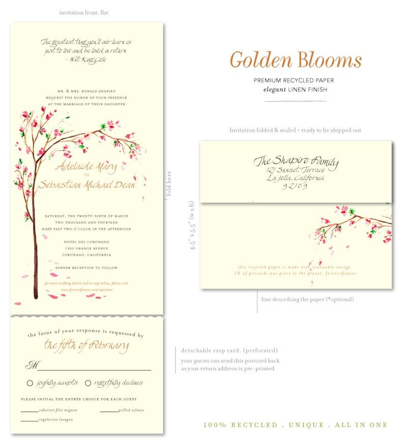 Cherry Tree Golden Blooms