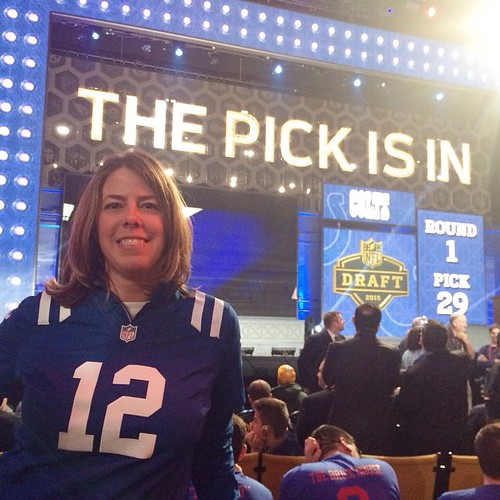 Angie Six at the 2015 NFL Draft Indianapolis Colts