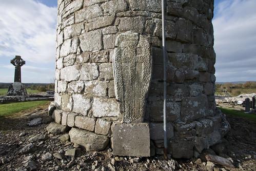 Cross Slab at Meelick Round Tower