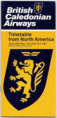 BRITISH CALEDONIAN AIRWAYS [1981] North America