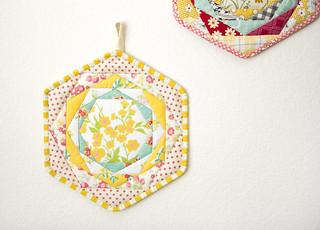 Happy Hexagon Trivet