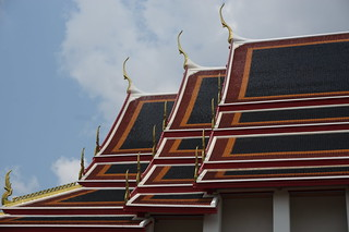 Striking rooflines at Wat Pho