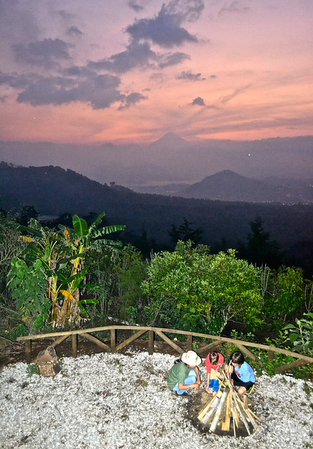 Bonfire ceremony - Green Rush Nature Park, Guatemala