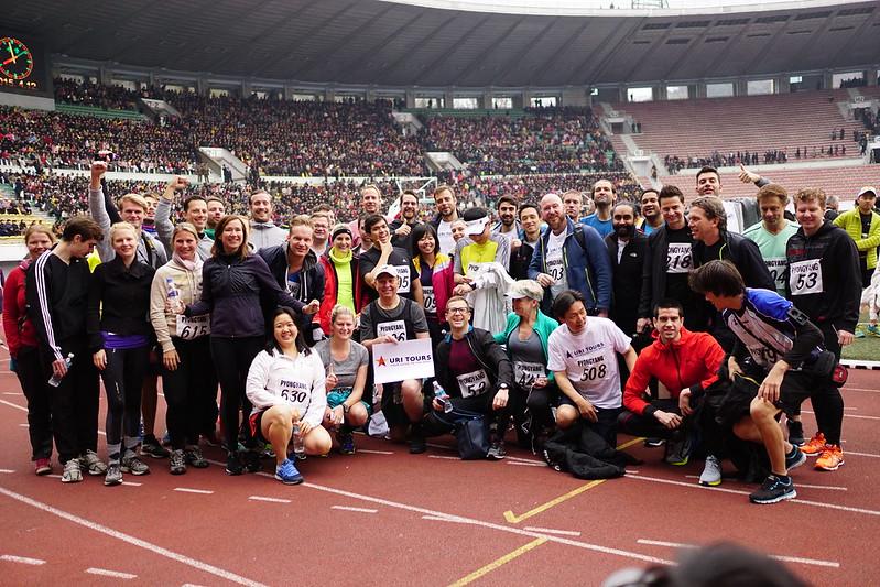 Pyongyang Marathon participants 2015