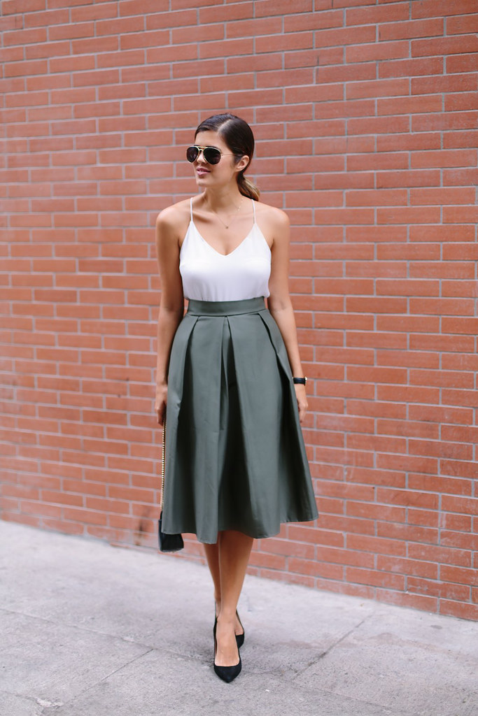 DIY PLEATED MIDI SKIRT | a pair & a spare