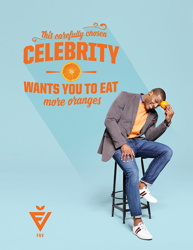 This carefully chosen celebrity wants you to eat more oranges. Cam Newton, quarterback for the Carolina Panthers.