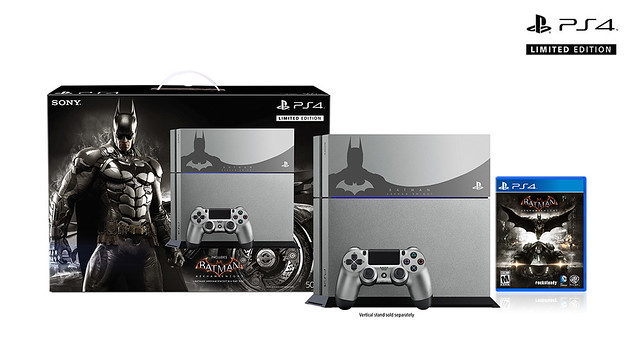 The sleek new Steel Grey Batman: Arkham Knight PS4 bundle.