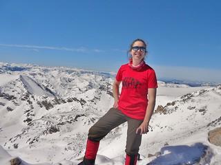 Clare on Mt Massive