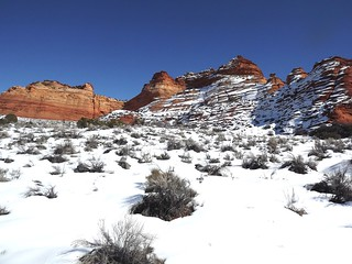 snow at South Coyote Buttes