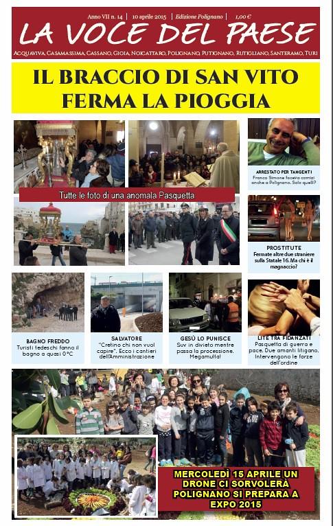 polignano la voce del paese copertina 10 aprile 2015