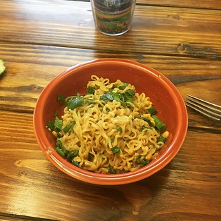 Thai Peanut Noodles from a recipe on #Pintrest. They're awesome. Needs a few tweaks though. #fiestaware #Paprika