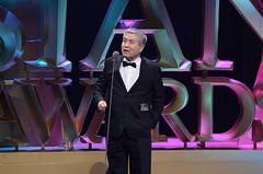 """_Godfather of Korean Cinema Im Kwon-Taek"""" receives the Lifetime Achievement Award in recognition of his numerous contributions to Korean cinema at the 9th Asian Film Awards."""