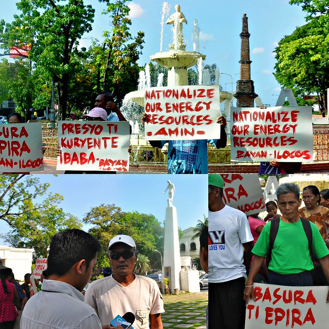 Renewable Energy protest in Ilocos Norte - April 13, 2015