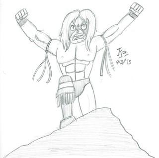 """Illustration Friday: """"Warrior"""""""