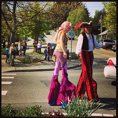 #whidbeyisland #yestergram #mermaidonstilts #pirateonstilts #greywhale #parade