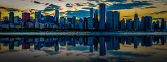 ChiTown Sunset Reflection