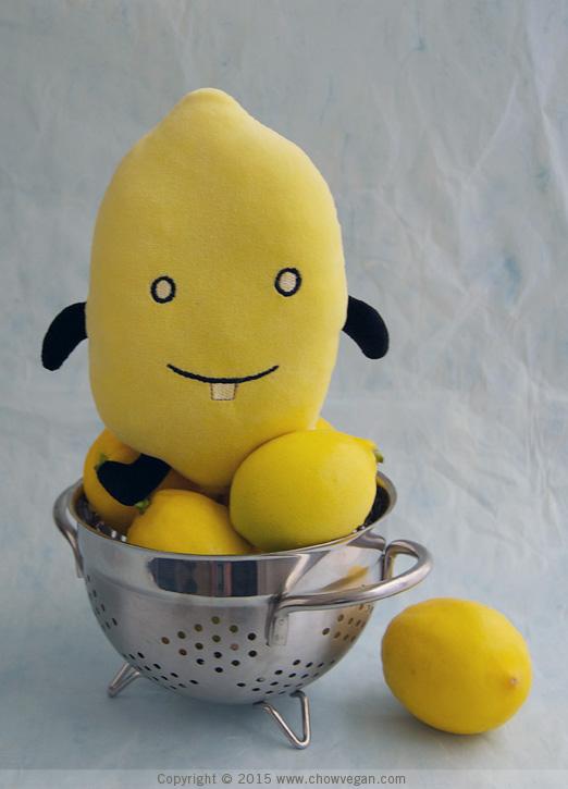 Fresh Lemons in Colander