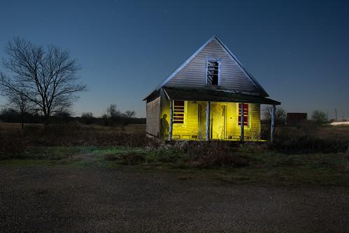 nightphotography lightpainting abandoned texas ladonia bugtussle