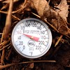 Fun farmer activity: Sticking a meat thermometer in the ground & proving it's Spring.