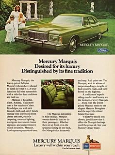 1976 Mercury Marquis 4-Door Pillared Hardtop (Canadian Ad)