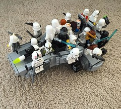 I may have to turn Wes into the Interstellar Transportation Safety Board for overloading that land speeder with stormtroopers. I'm sure Darth Bureaucrat  wouldn't approve. #legostarwars #lego #starwars