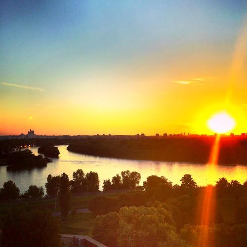 ušće sava dunav sunset kalemegdan beograd belgrade serbia